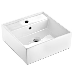 Ceramic Rectangle Sink Bowl - White - Factory To Home - Home & Garden