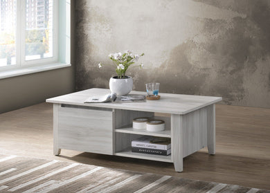 Coffee Table With Open Drawer In White Oak - Factory To Home - Furniture