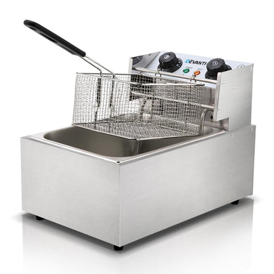 Commercial Electric Single Deep Fryer - Silver - Factory To Home - Appliances