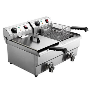 Commercial Twin Countertop Electric Deep Fryer - Factory To Home - Appliances