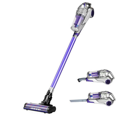 Cordless Hand-stick Vacuum Cleaner - Grey and Purple - Factory To Home - Appliances