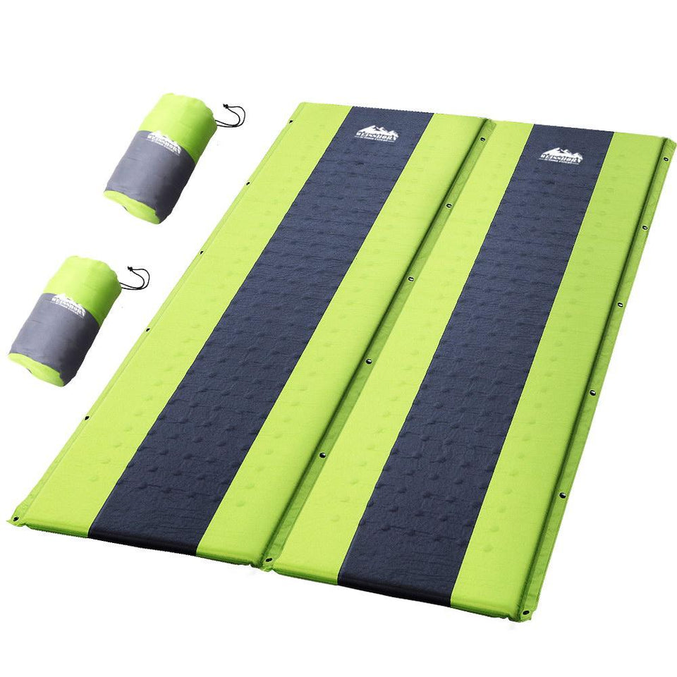Double Self Inflating Mattress - Green - Factory To Home - Outdoor