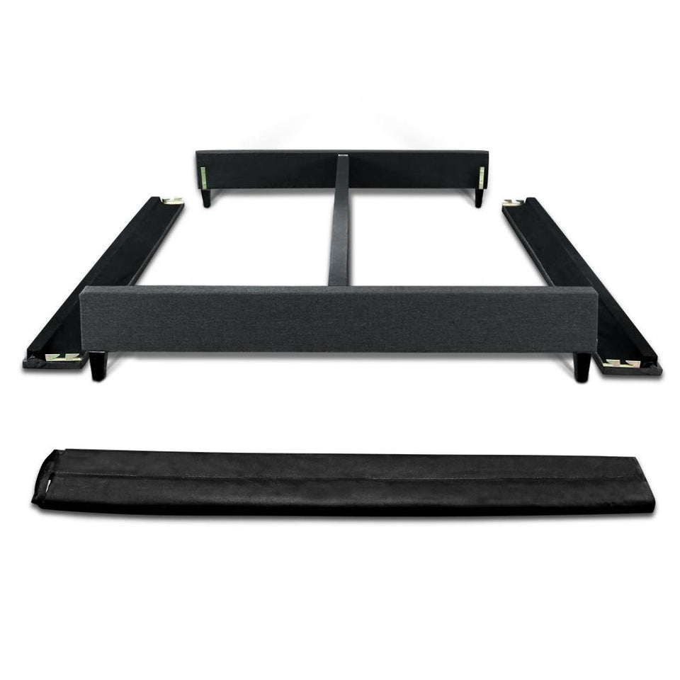 Double Size Fabric Bed Frame - Charcoal - Factory To Home - Furniture
