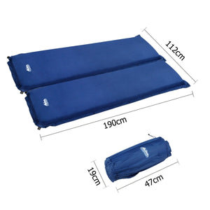 Double Size Self Inflating Mattress - Blue - Factory To Home - Outdoor