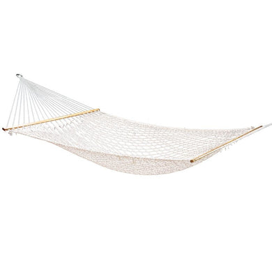 Double Swing Hammock - Cream - Factory To Home - Home & Garden