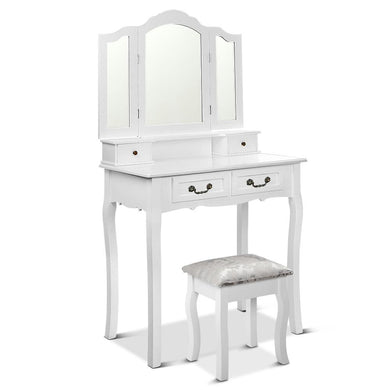 Dressing Table with Mirror - White - Factory To Home - Furniture