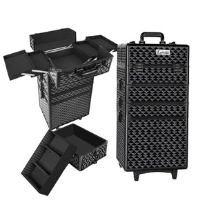 Embellir 7 in 1 Portable Cosmetic Beauty Makeup Trolley - Diamond Black - Factory To Home - Health & Beauty