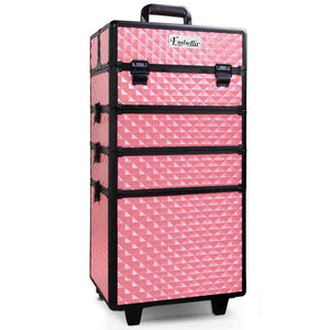 Embellir 7 in 1 Portable Cosmetic Beauty Makeup Trolley - Diamond Pink - Factory To Home - Health & Beauty