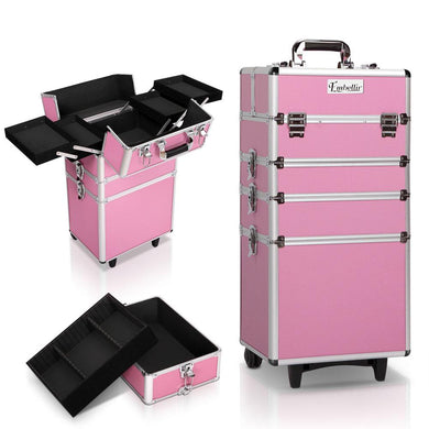 Embellir 7 in 1 Portable Cosmetic Beauty Makeup Trolley - Pink - Factory To Home - Health & Beauty