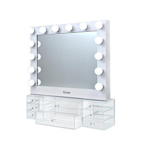 Embellir Hollywood Makeup Mirror With Light Jewellery Cabinet LED Bulbs Mirrors - Factory To Home - Health & Beauty