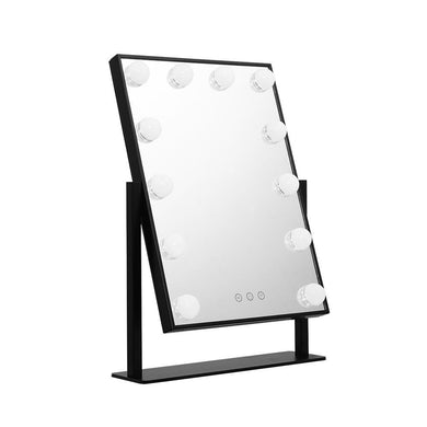 Embellir LED Standing Makeup Mirror - Black - Factory To Home - Furniture