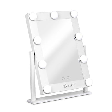 Embellir LED Standing Makeup Mirror - White - Factory To Home - Furniture