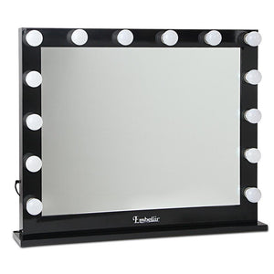 Embellir Make Up Mirror with LED Lights - Black - Factory To Home - Furniture