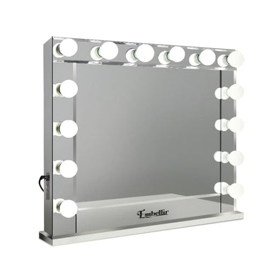 Embellir Make Up Mirror with LED Lights - Silver - Factory To Home - Furniture