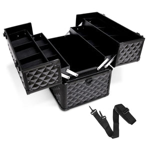 Embellir Portable Cosmetic Beauty Makeup Case - Diamond Black - Factory To Home - Health & Beauty