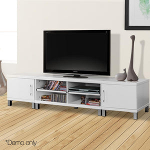 Entertainment Unit with Cabinets - White - Factory To Home - Furniture