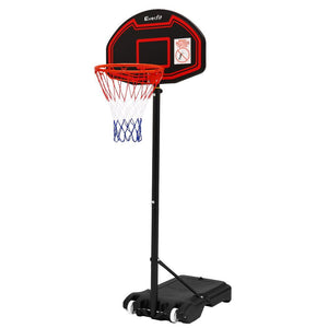 Everfit 2.1M Adjustable Portable Basketball Stand Hoop System Rim Black - Factory To Home - Sports & Fitness