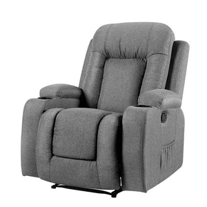 Fabric Electric Massage Recliner Chair - Grey - Factory To Home - Furniture