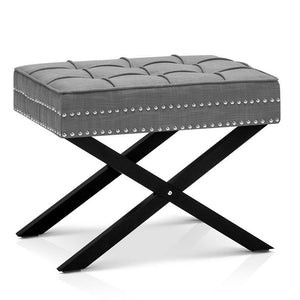 Fabric Foot Stool - Grey - Factory To Home - Furniture