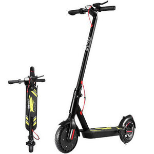 Foldable Compact Electric Scooter With LED Light - Black - Factory To Home - Sports & Fitness