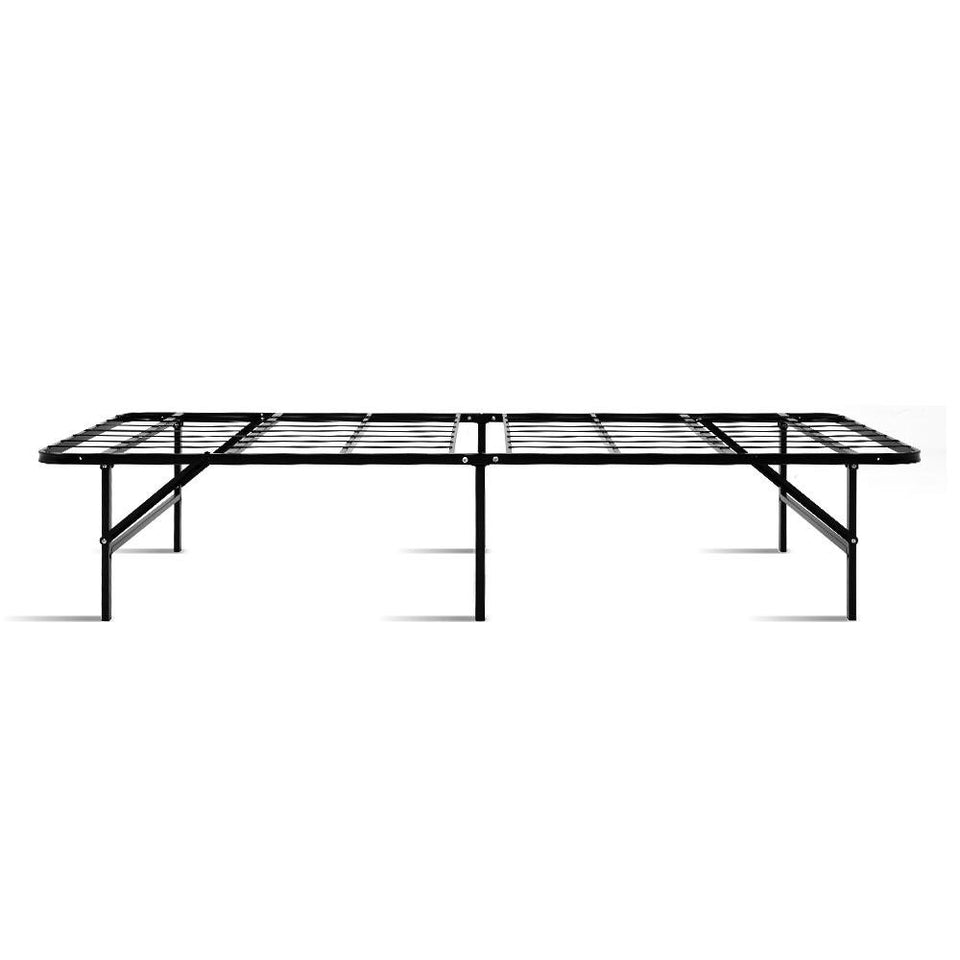Foldable Single Metal Bed Frame - Black - Factory To Home - Furniture