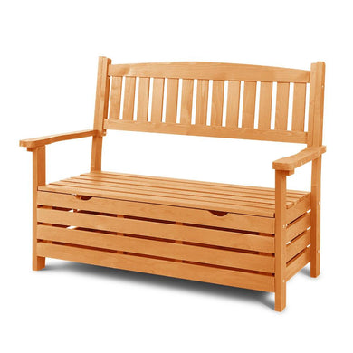 Gardeon 2 Seat Wooden Outdoor Storage Bench - Factory To Home - Home & Garden