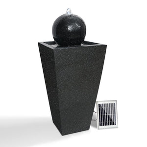 Gardeon Solar Powered Water Fountain - Black - Factory To Home - Home & Garden