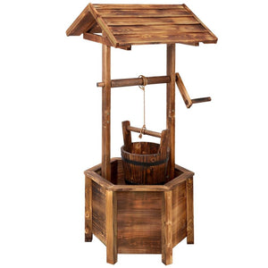 Gardeon Wooden Wishing Well - Factory To Home - Home & Garden
