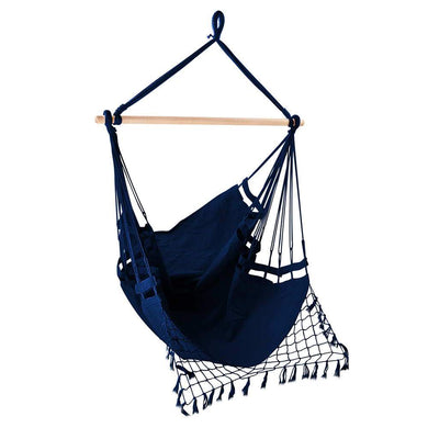 Hammock Swing Chair - Navy - Factory To Home - Home & Garden