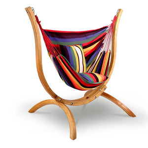 Hammock with Wooden Hammock Stand - Factory To Home - Home & Garden