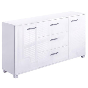 High Gloss Sideboard Storage Cabinet - White - Factory To Home - Furniture