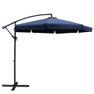 Instahut 3M Outdoor Umbrella - Navy - Factory To Home - Furniture