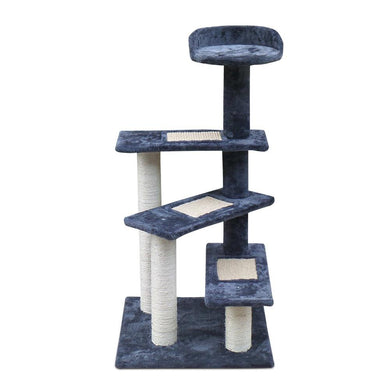 i.Pet 100cm Multi Level Cat Scratching Tree - Grey - Factory To Home - Pet Care