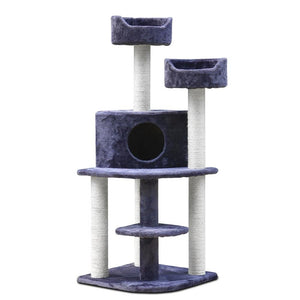 i.Pet 126cm Multi Level Cat Scratching Tree - Grey - Factory To Home - Pet Care