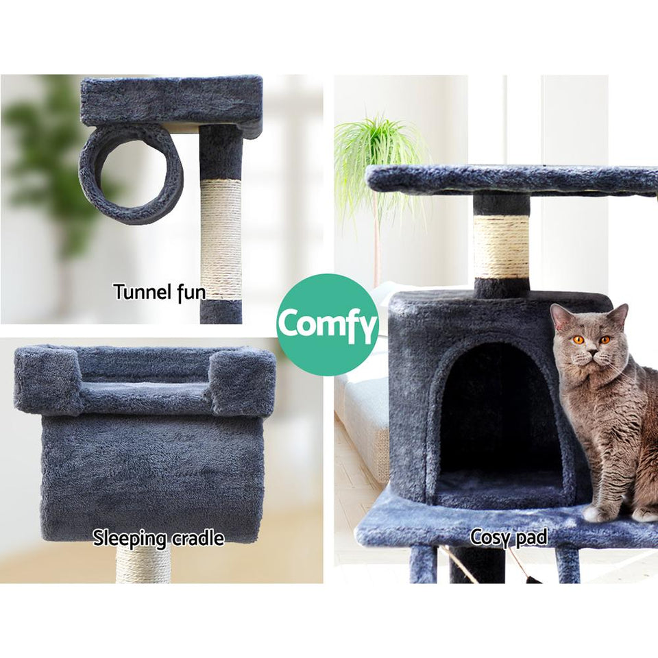 i.Pet 141cm Cat Scratching Post - Grey - Factory To Home - Pet Care