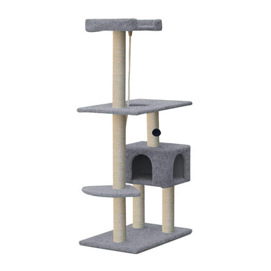 i.Pet 145cm Cat Scratching Post - Grey - Factory To Home - Pet Care