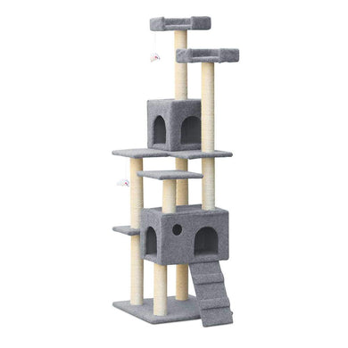 i.Pet 7 Level Cat Scratching Post - Grey - Factory To Home - Pet Care