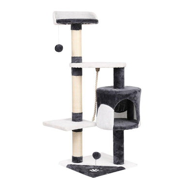 i.Pet Cat Scratcher Pole - White and Grey - Factory To Home - Pet Care