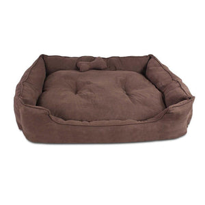 i.Pet Extra Large Faux Suede Washable Pet Bed - Brown - Factory To Home - Pet Care