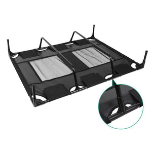 i.Pet Extra Large Mesh Pet Trampoline - Black - Factory To Home - Pet Care