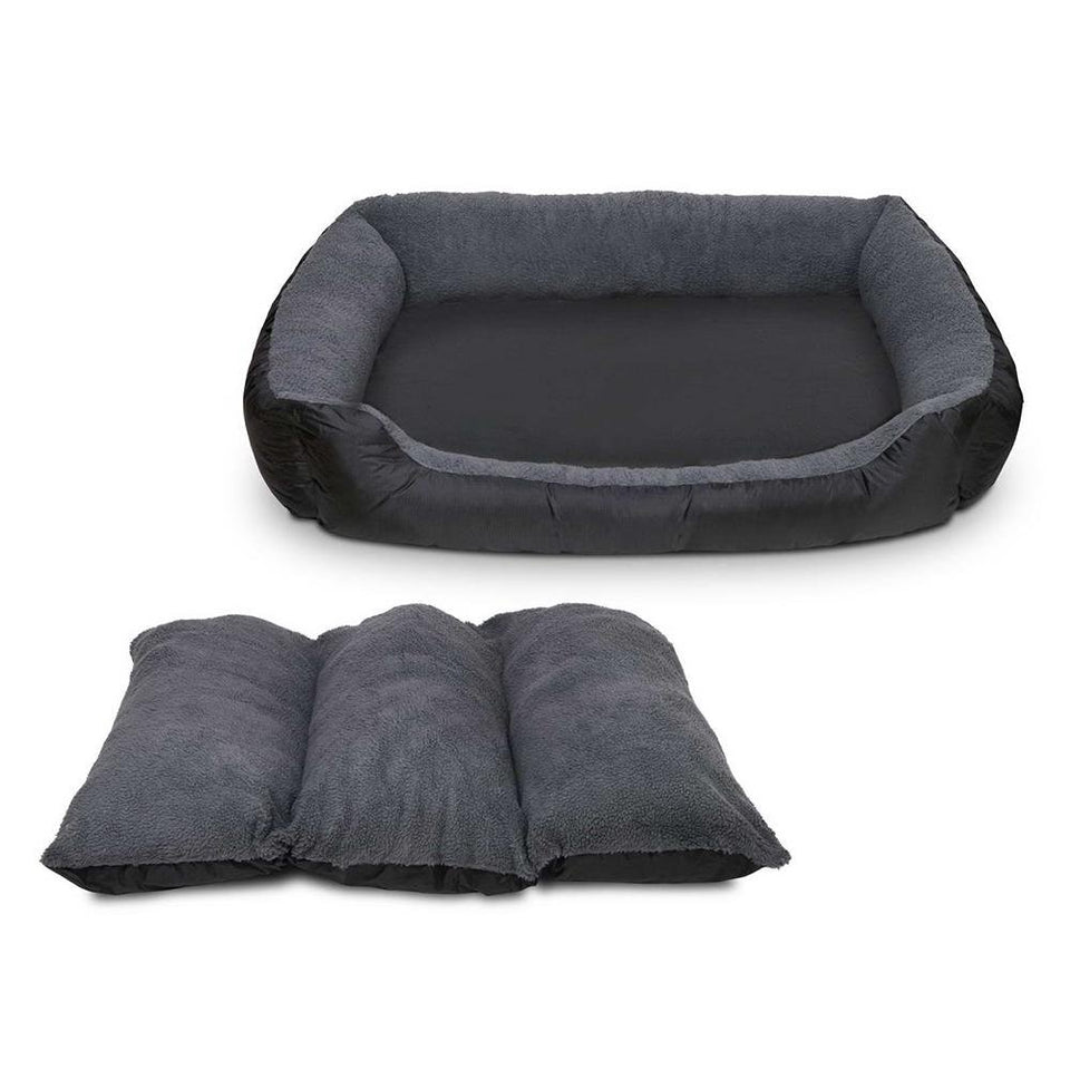 i.Pet Large Fleece Washable Pet Bed - Grey - Factory To Home - Pet Care
