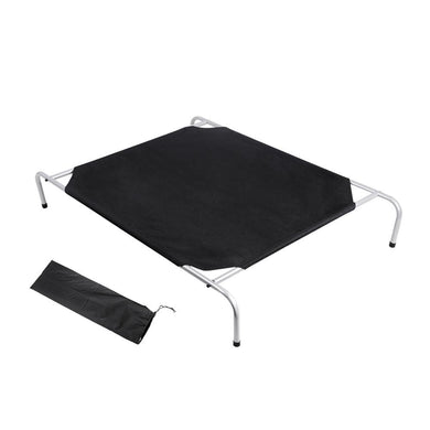 i.Pet Medium Canvash Heavy Duty Pet Trampoline - Black - Factory To Home - Pet Care