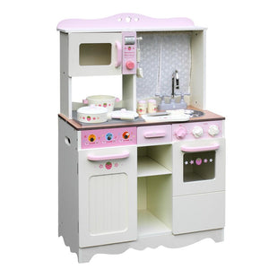 Keezi Kids Kitchen Play Set - Off White - Factory To Home - Baby & Kids