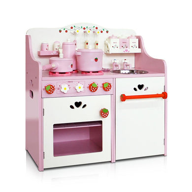 Keezi Kids Kitchen Play Set - Pink - Factory To Home - Baby & Kids