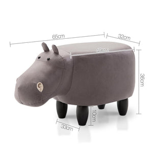 Kids Hippo Stool - Grey - Factory To Home - Baby & Kids