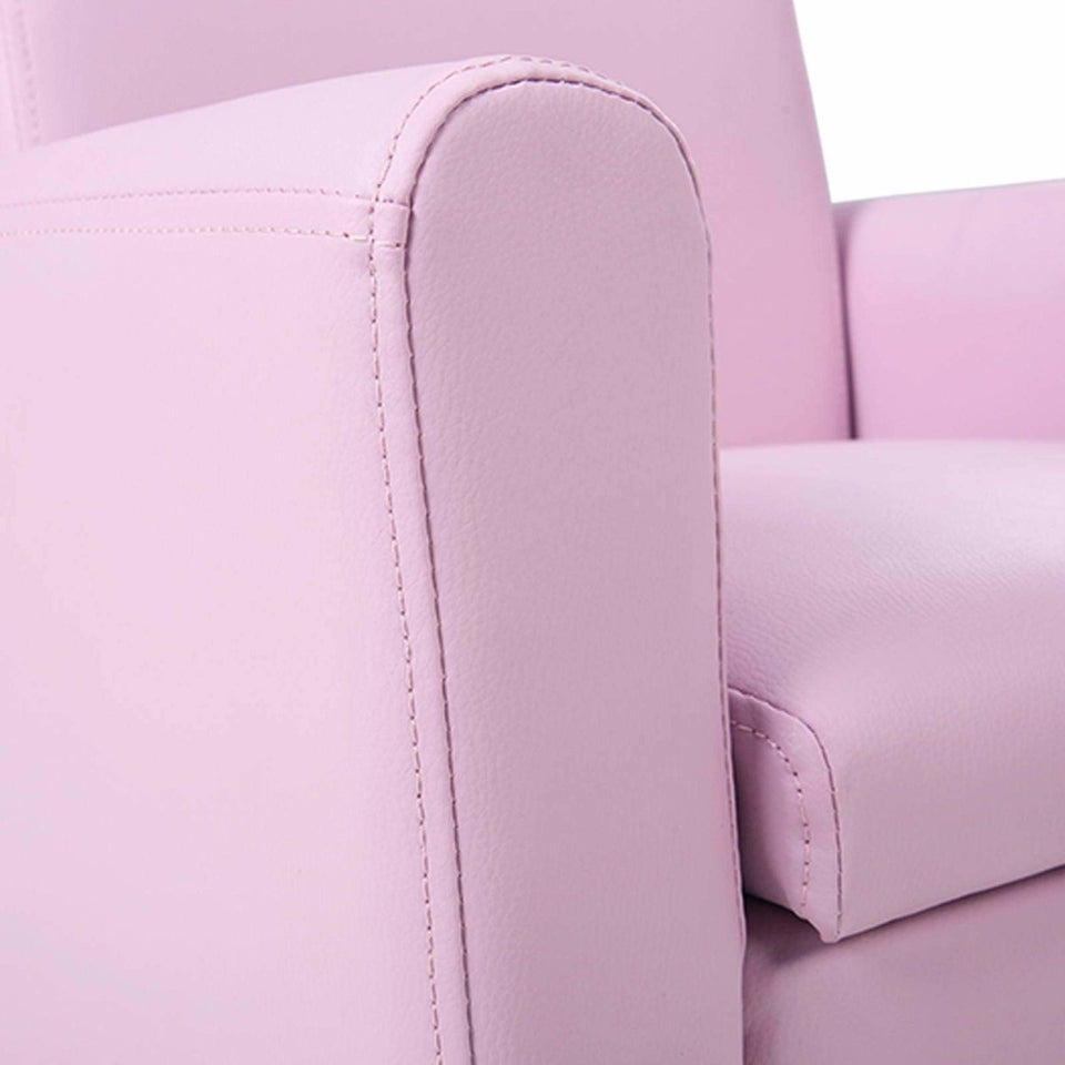 Kids PU Leather Double Armchair - Pink - Factory To Home - Baby & Kids