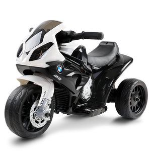 Kids Ride On Motorbike BMW Licensed S1000RR Motorcycle Car Black - Factory To Home - Baby & Kids