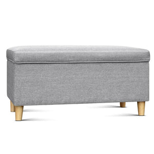 Kids Storage Ottoman - Light Grey - Factory To Home - Furniture