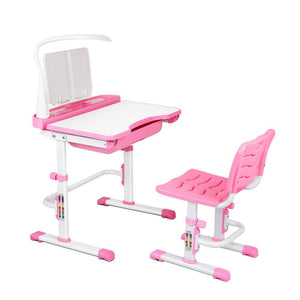 Kids Study Desk and Chair - Pink - Factory To Home - Furniture