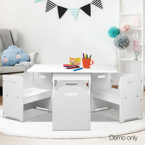Kids Table and Chair Set - White - Factory To Home - Baby & Kids